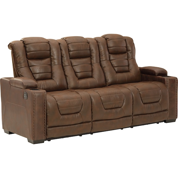 Living Room Furniture - Owner's Box  Power Reclining Sofa