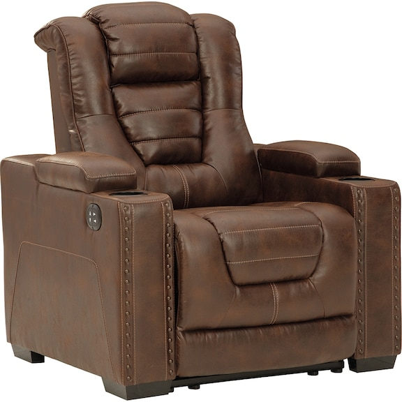 Living Room Furniture - Owner's Box  Power Recliner