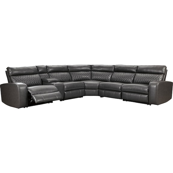 Living Room Furniture - Dazzle 6 Piece Power Reclining Sectional