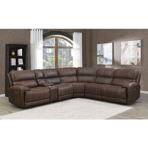 Living Room Furniture - Paxton 7 Piece Reclining Sectional