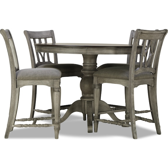 Dining Room Furniture - Farmhouse 5 Piece Counter Dining Set