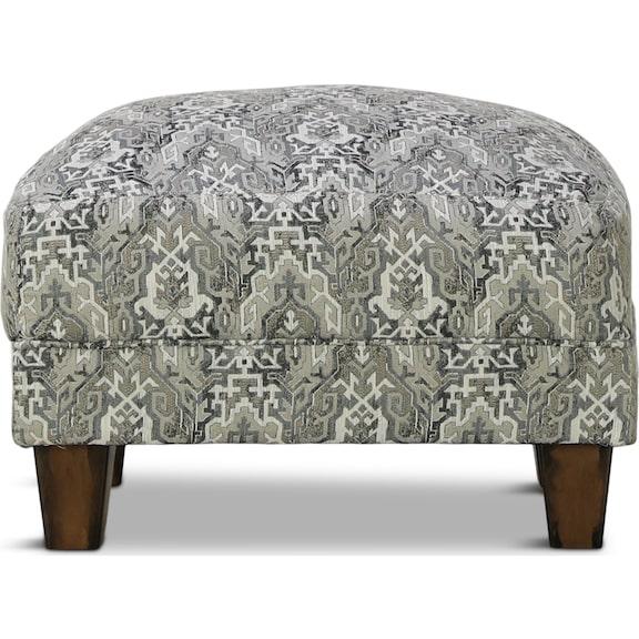 Living Room Furniture - Della Accent Ottoman