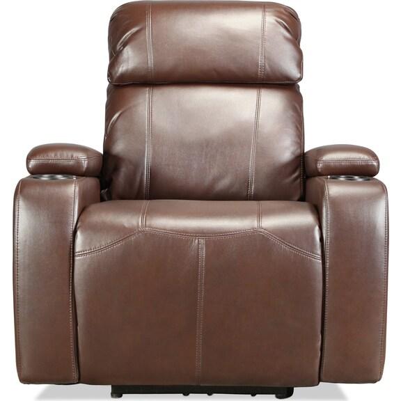 Living Room Furniture - Dynamo Power Recliner - Brown