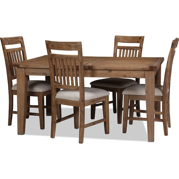 Dining Room Furniture - Annabella 5pc Dining