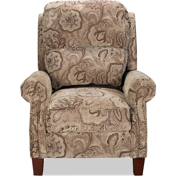 Living Room Furniture - Canelo Pushback Recliner - Paisley