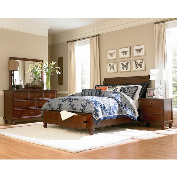 Bedroom Furniture - Camden 4pc Queen Storage Bedroom