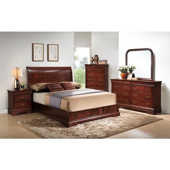 Bedroom Furniture - Claire 4pc Queen Bedroom