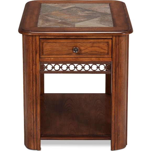 Accent and Occasional Furniture - Madison End Table - Oak