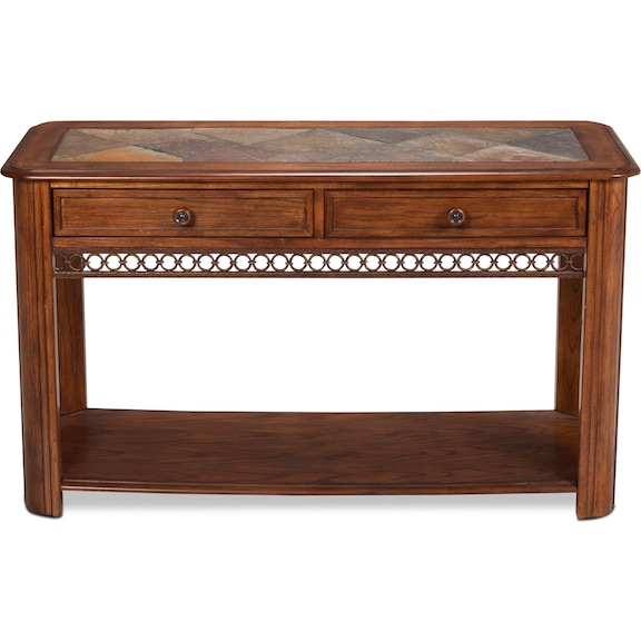 Accent and Occasional Furniture - Madison Sofa Table - Oak