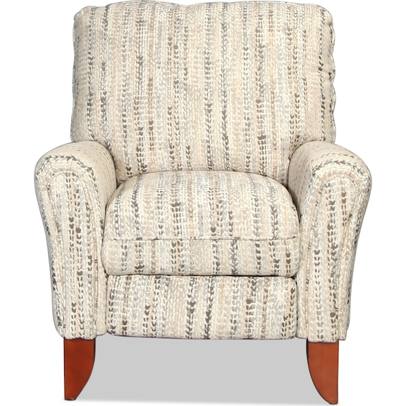 Living Room Furniture - Caiden Pushback Recliner - Marble