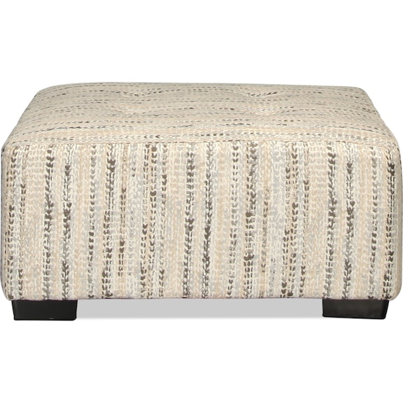 Living Room Furniture - Caiden Ottoman - Marble
