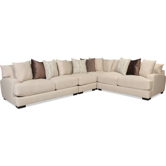 Living Room Furniture - Caiden 4pc Sectional - Dusk