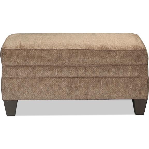 Living Room Furniture - Desmond Storage Ottoman - Truffle