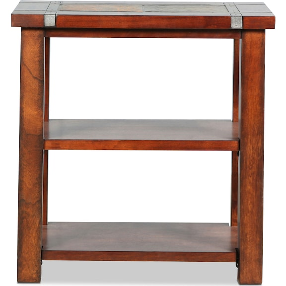 Accent and Occasional Furniture - Roanoke Chairside Table - Slate and Cherry