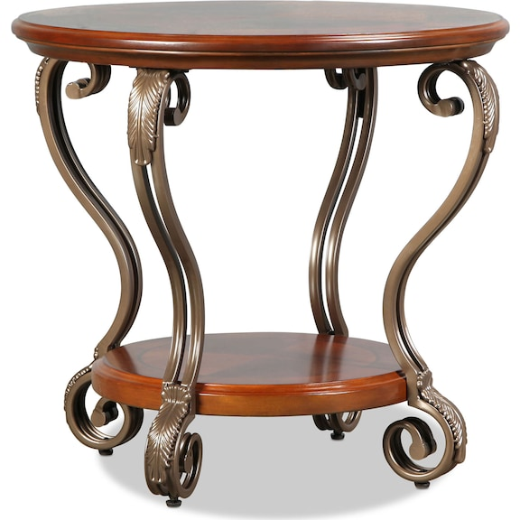 Accent and Occasional Furniture - Hastings End Table - Burnished Brown