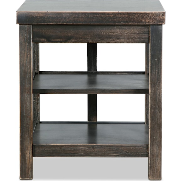 Accent and Occasional Furniture - Asher End Table - Vintage Black