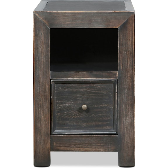 Accent and Occasional Furniture - Asher Chairside Table - Vintage Black