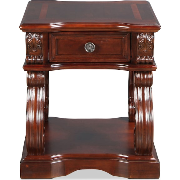 Accent and Occasional Furniture - Vandenburg End Table - Vintage Brown
