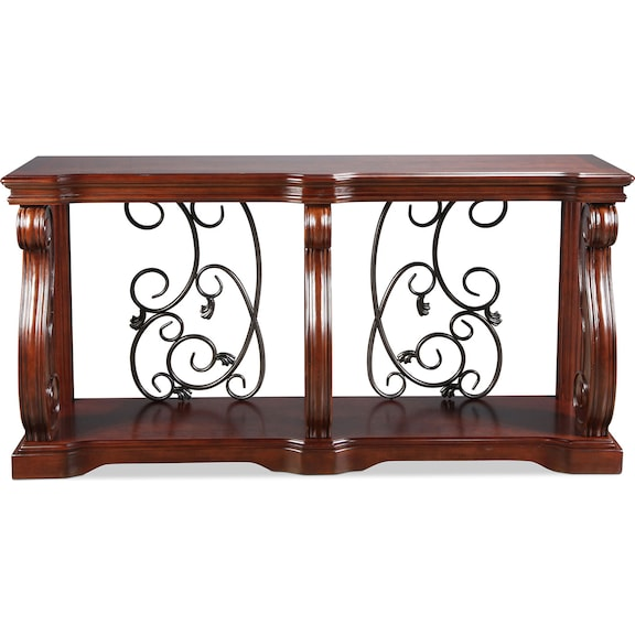Accent and Occasional Furniture - Vandenburg Sofa Table - Vintage Brown
