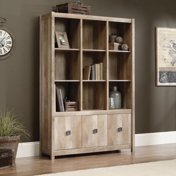Home Office Furniture - Cannery Bridge Storage Wall - Lintel Oak