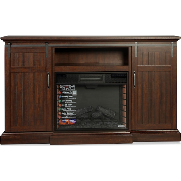 Accent and Occasional Furniture - Manning Media Fireplace - Espresso