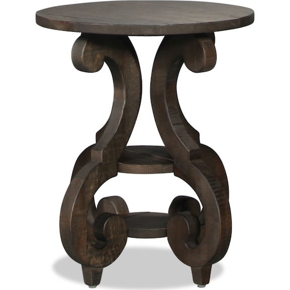 Accent and Occasional Furniture - Bellamy Round End Table - Weathered Pine