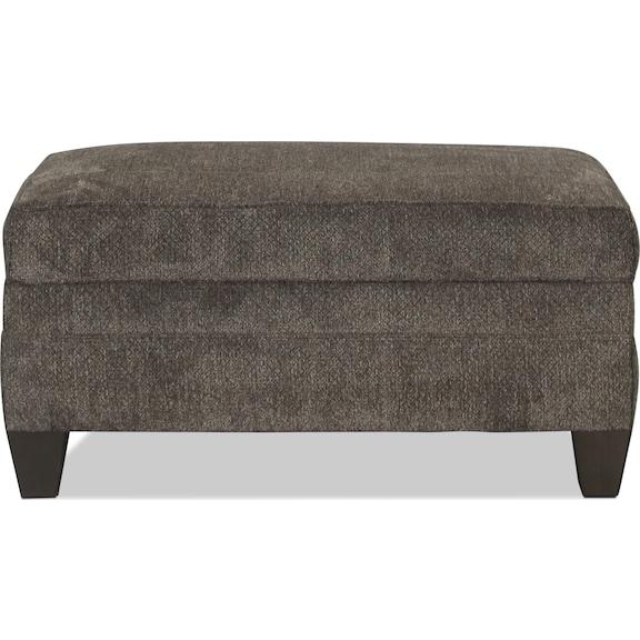 Living Room Furniture - Desmond Storage Ottoman - Albany Pewter