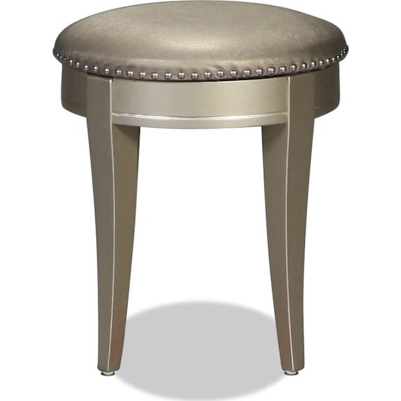 Kids Furniture - Lil Posh Vanity Stool - Platinum