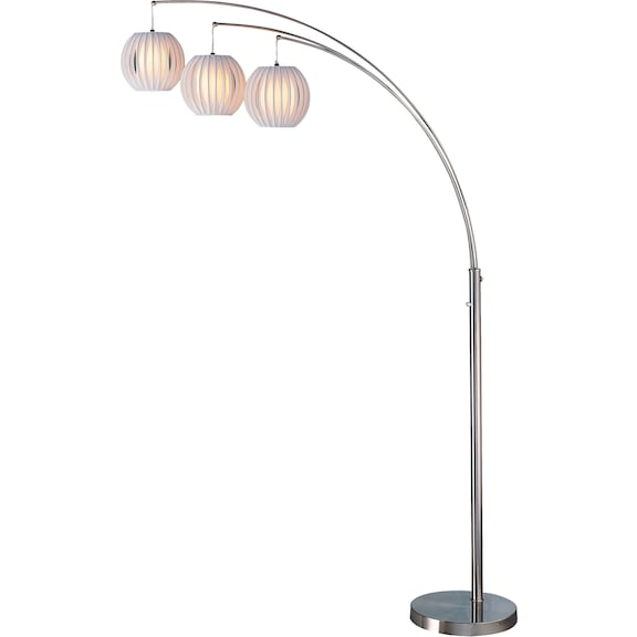 Home Accessories - Callisto Floor Lamp with White Shades
