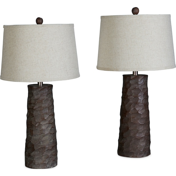 Home Accessories - Table Lamps - Faux Wood