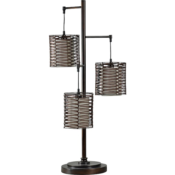 Home Accessories - Pandora I 3-Rattan Shade Table Lamp