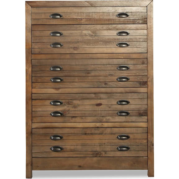 Bedroom Furniture - Pine Hollow 5 Drawer Chest