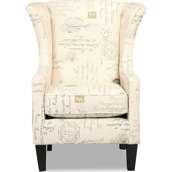 Living Room Furniture - Greenvale Accent Chair - Script