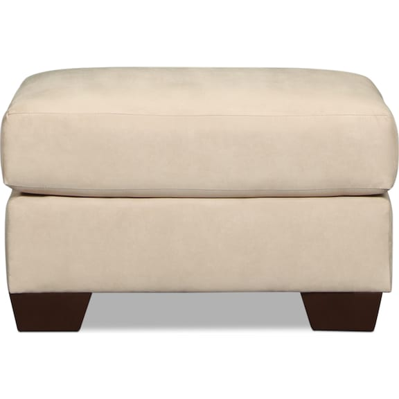 Living Room Furniture - Archer Ottoman - Stone