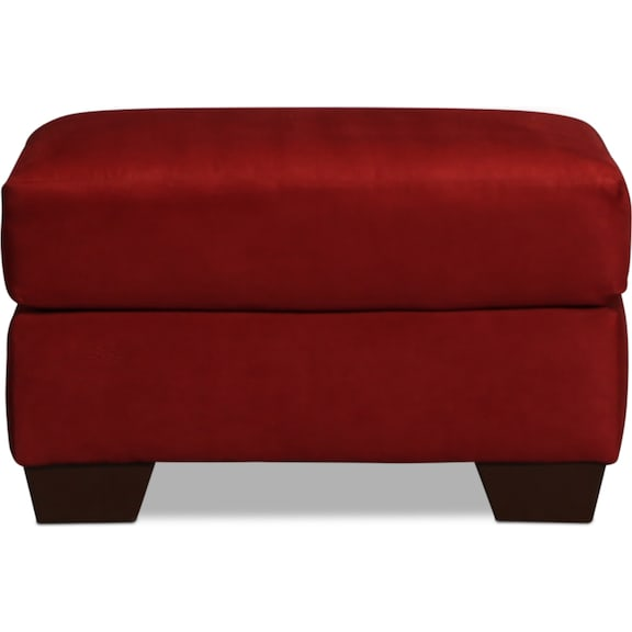 Living Room Furniture - Archer Ottoman - Salsa