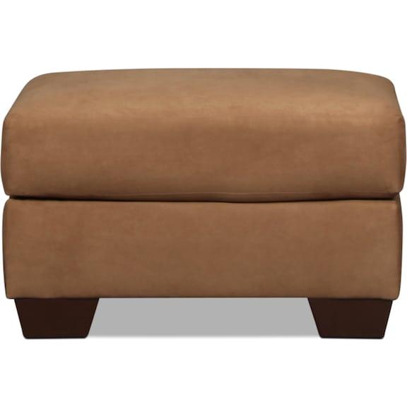 Living Room Furniture - Archer Ottoman - Mocha