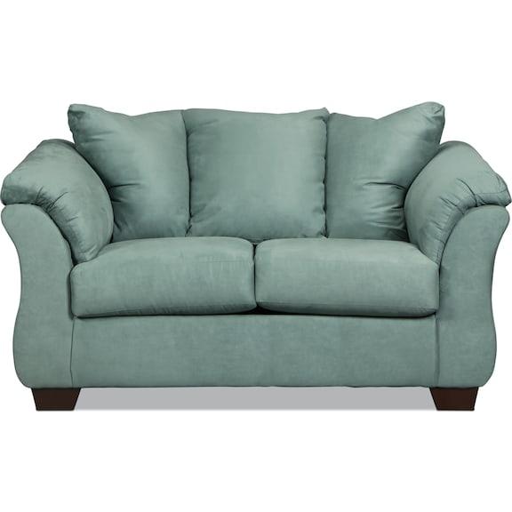 Living Room Furniture - Archer Loveseat - Sky