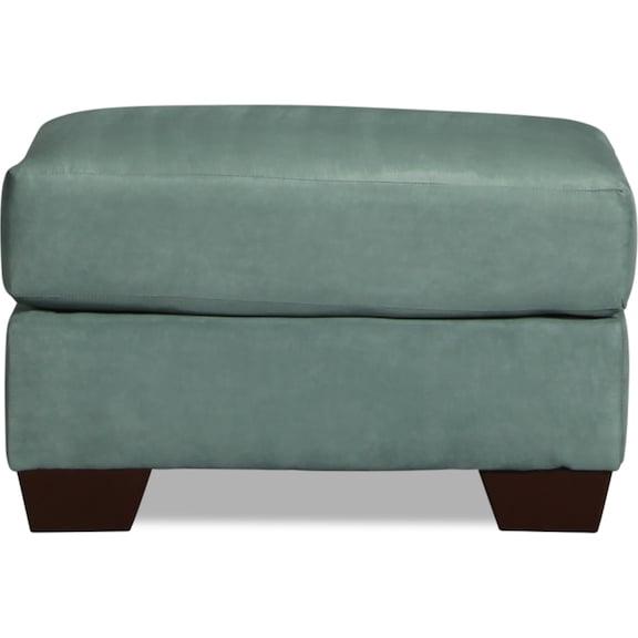 Living Room Furniture - Archer Ottoman - Sky