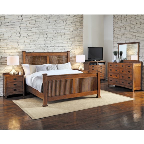 Bedroom Furniture - Ridgecrest 4pc Queen Bedroom