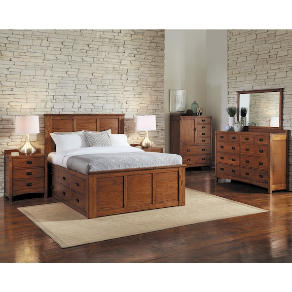 Bedroom Furniture - Ridgecrest 4pc King Storage Bedroom