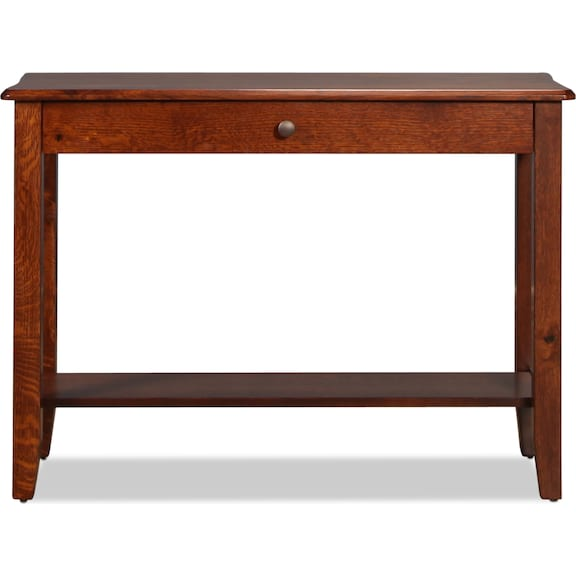 Accent and Occasional Furniture - Bunker Hill Sofa Table - Rustic Oak