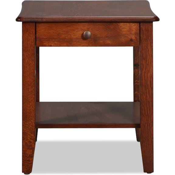 Accent and Occasional Furniture - Bunker Hill End Table - Rustic Oak