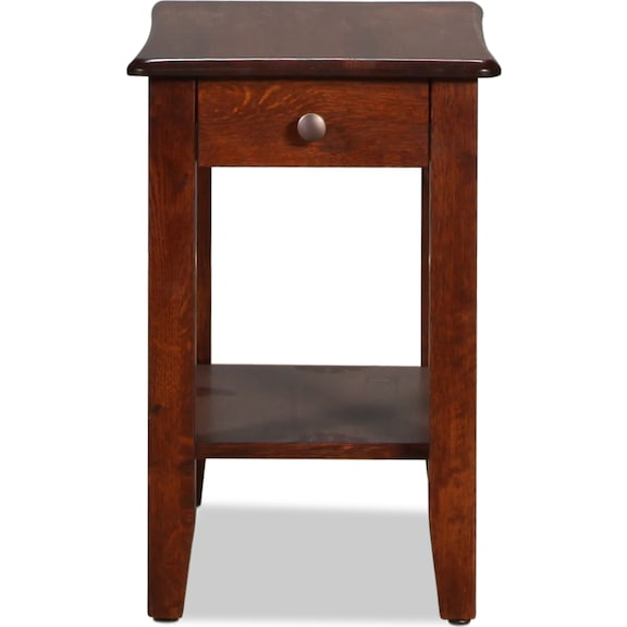 Accent and Occasional Furniture - Bunker Hill Chairside Table - Rustic Oak