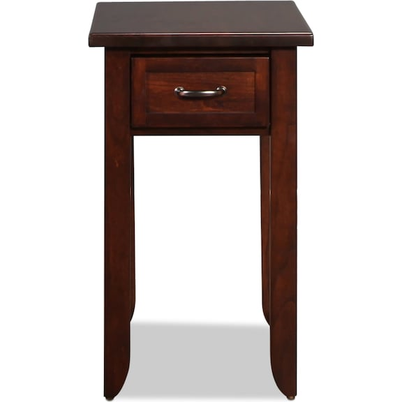 Accent and Occasional Furniture - Strasburg Chairside Table - Brown Cherry
