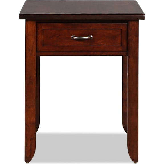 Accent and Occasional Furniture - Strasburg End Table - Brown Cherry