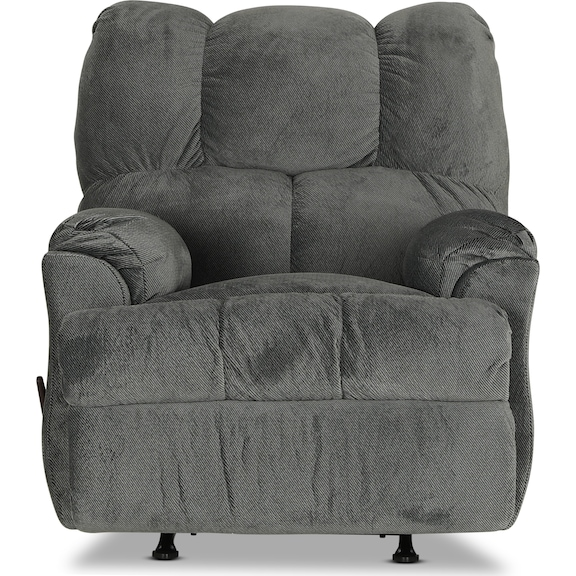 Living Room Furniture - Corbin Rocker Recliner - Gray