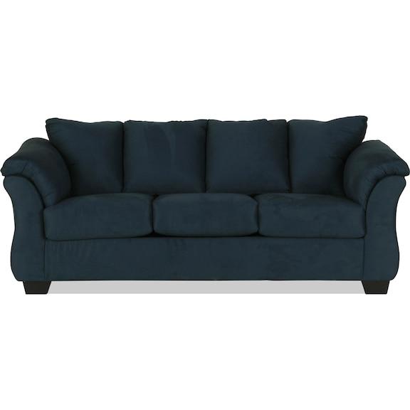 Living Room Furniture - Archer Sleeper Sofa - Navy
