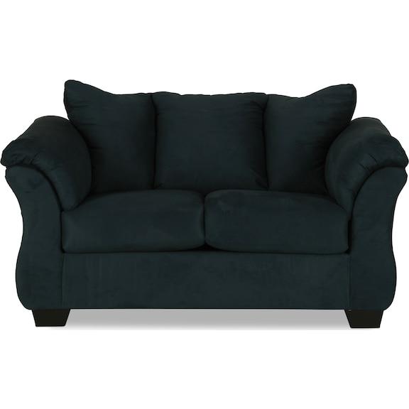 Living Room Furniture - Archer Loveseat - Navy