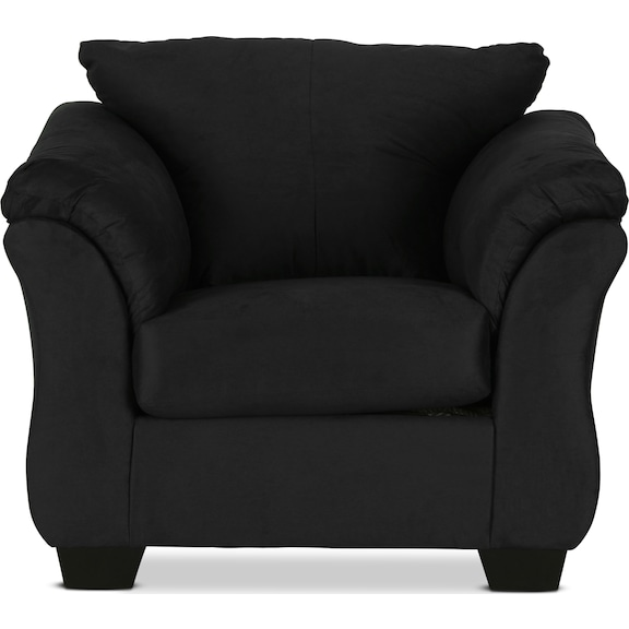 Living Room Furniture - Archer Chair - Black