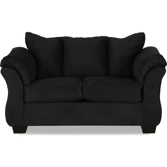 Living Room Furniture - Archer Loveseat - Black